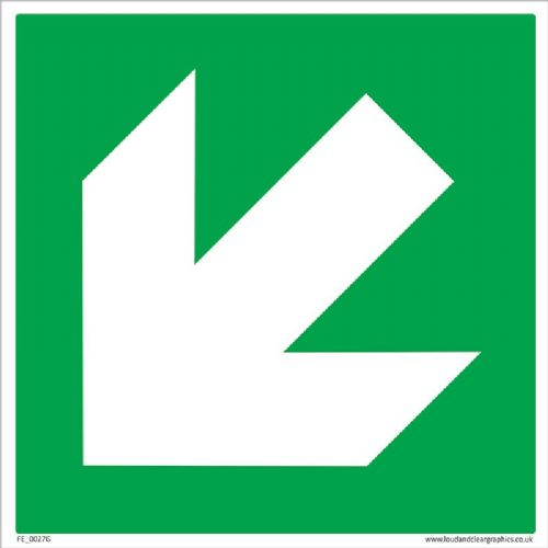 Fire Exit Arrow diagonal
